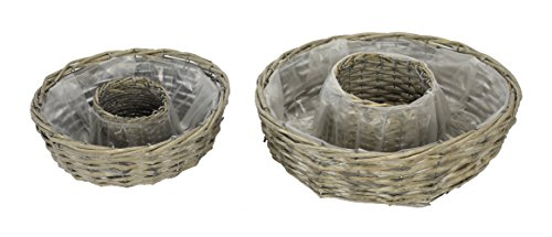 Holz Pflanz-Ringe 2er Set