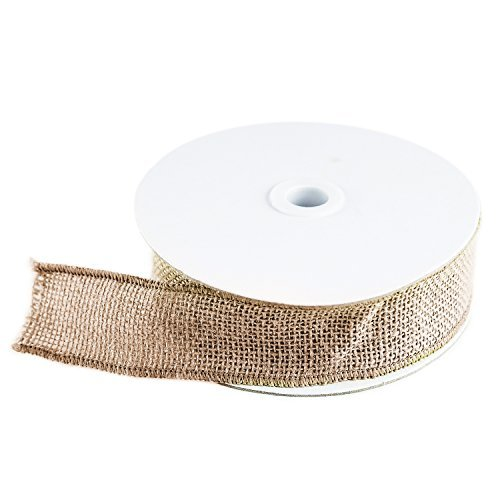 Super Z Outlet 10 Yard Burlap Natural Color Fabric Ribbon Roll for Arts & Crafts Homemade DIY Projects, Event Decorations by Super Z Outlet?