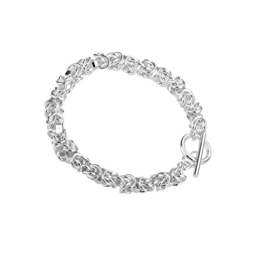 DUMAN Silver Plated Bracelet Fashion Jewelry Chain Bracelets Dragon Head Twisty Cuff Bangle For Men