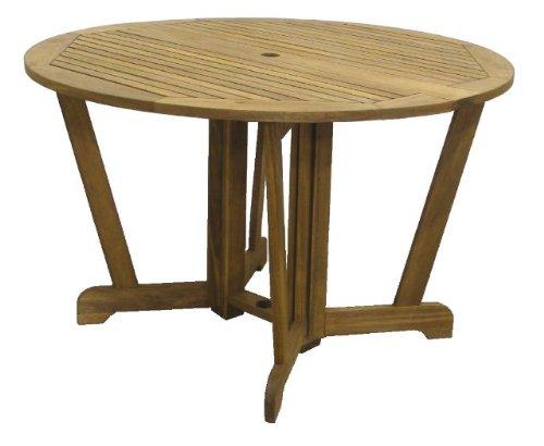 Henley 120 Round Gateleg Hardwood Garden Table