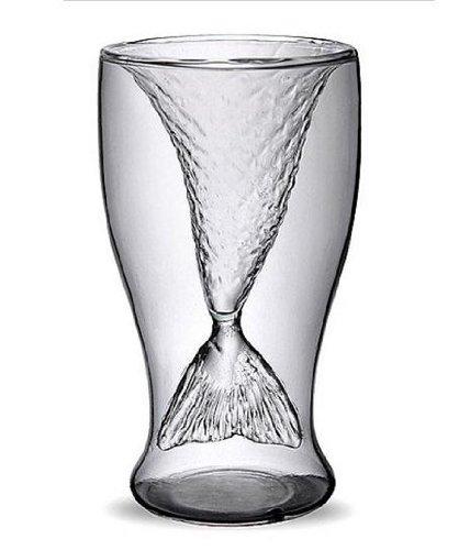 Leegoal (Tm) Clear 100Ml Creative Mermaid Shape Glass Wine Beer Cup For Bar Party