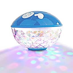 Floating Speaker with Bluetooth - Underwater Speaker with Color Lights - Portable and Wireless for the Beach Pool or Boating - Compatible with any Bluetooth Device