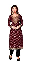 AMP IMPEX Ethnicwear Women's Dress Material Black Free Size