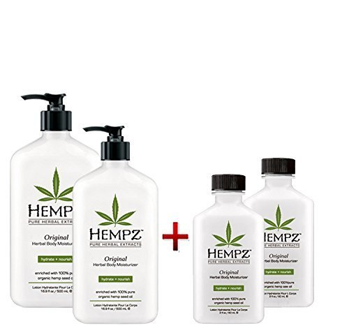 Hempz Original Herbal Body Moisturizer 17oz 2pack And 2oz Moisturizer 2pack