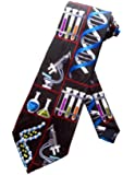 Steven Harris Chemisty Laboratory Necktie - Black - One Size Neck Tie