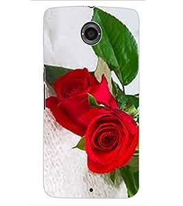 ColourCraft Love Roses Design Back Case Cover for MOTOROLA GOOGLE NEXUS 6