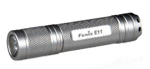 Fenix E11 Led Flashlight W/ 105 Lumen Cree Xp-E Led, Silver Finish, Uses 1Xaa Battery E11R3Sl