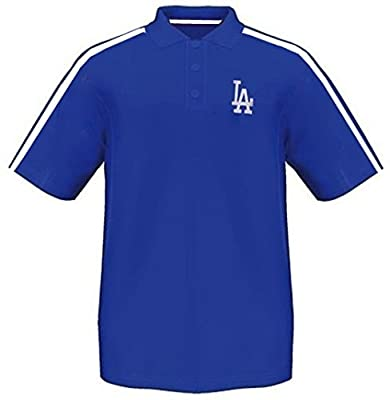 Los Angeles Dodgers Synthetic Arm Polo Shirt Royal Mens Big & Tall Sizes