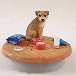 Border Terrier Candle Topper Tiny One \