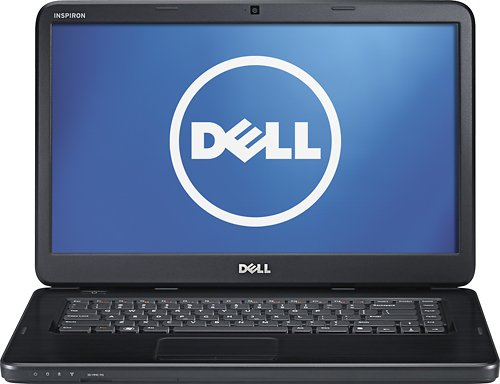 NEW Dell 15.6-inch Inspiron Laptop / Intel Core i3 / 4GB RAM / 500GB Hard Drive / DVD±RW Double Layer / 6-Cell Battery / Windows 7 Home Premium / Obsidian Black
