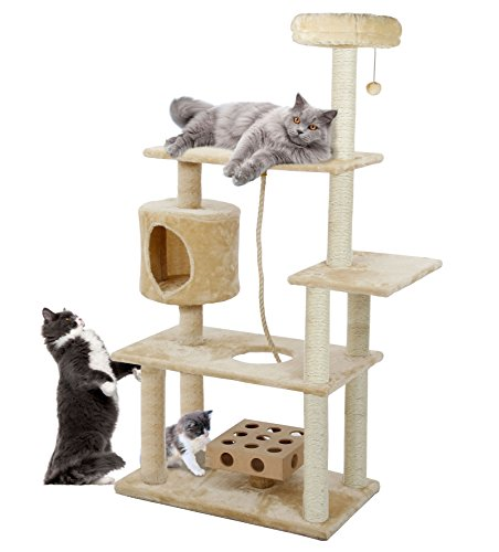 Furhaven-Pet-Deluxe-Cat-Tree-Playground-with-Cat-IQ-Toy