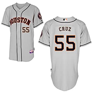 Rhiner Cruz Houston Astros Road Authentic Cool Base Jersey by Majestic by Majestic
