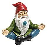 Design Toscano Zen Garden Gnome Statue, 8 Inch, Polyresin, Full Color (Color: Full Color, Tamaño: 9 Inch)
