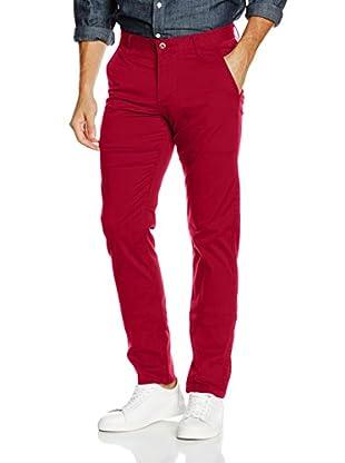 Dockers Pantalón Alpha Slim Twill (Rojo Intenso)