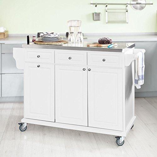 Sobuy carrello di servizio scaffale da cucina buttler mobili cucina legno acciaio piano - Scaffale cucina ...
