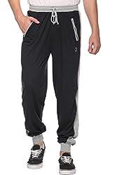COLORS & BLENDS - Charcoal - Cotton Track Pants with Zipper cross-pocket - Size XL
