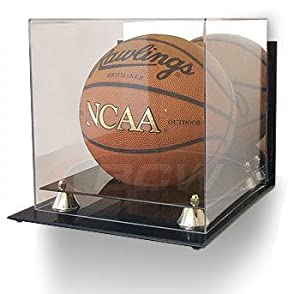 Buy BCW Deluxe Acrylic Basketball Display - With Mirror & Wall Mount - Basketball - Sports Memoriablia Display Case... by BCW