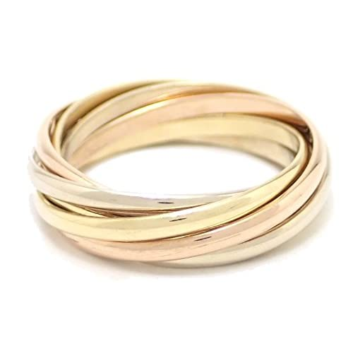 [カルティエ] Cartier トリニティ ドゥ カルティエ 7連 リング 指輪 スリーカラー ゴールド #53 [中古]