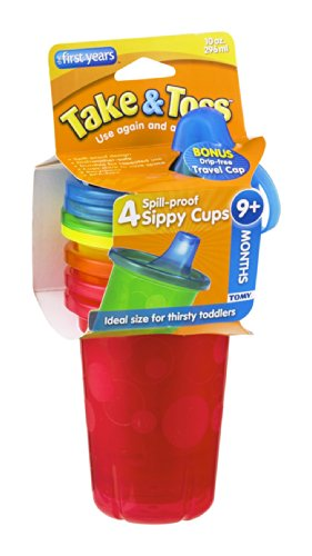 The First Years Take & Toss Spill-Proof Sippy Cups 9+ Months 4 CT (Pack of 8) - 1