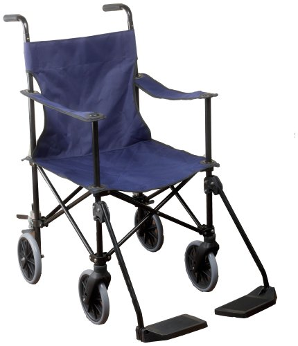 Nottingham Rehab Supplies (NRS) Rollstuhl zum Schieben (leichtgewichtig, zusammenklappbar)