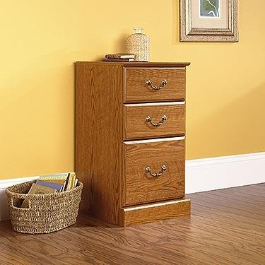 Sauder 3-Drawer Pedestal (Oak Pedestal compare prices)