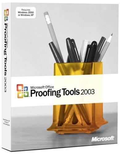 Microsoft Proofing Tools 2003 Old VersionB0000BZKZH