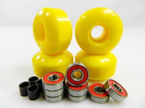 Buy Big Boy 52mm x 31mm Pro Skateboard Wheels (Yellow) + ABEC 7 Bearings + Spacers by Big Boy