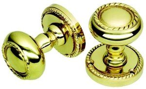 Georgian Style Polished Brass Door Knobs - Unsprung by OriginalForgery