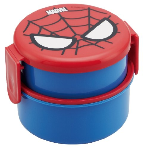 Spider-Man Round lunch box two-stage ONWR1 (japan import) - 1