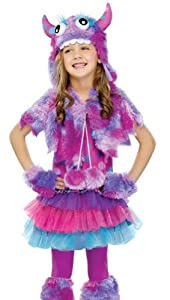 Girls Polka Dot Monster (Medium (8-10))