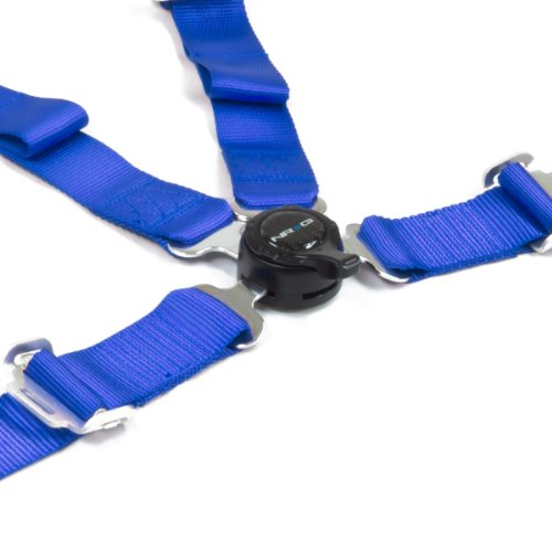Nrg Sbh-4Pcbl 4-Point Cam Lock Style Nylon Racing Seat Belt Harness - Blue
