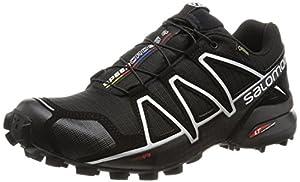 Salomon Men Speedcross 4 Gtx Training Running Shoes, Black (Black/Black/Silver Metallic-X), 9.5 UK 44 EU