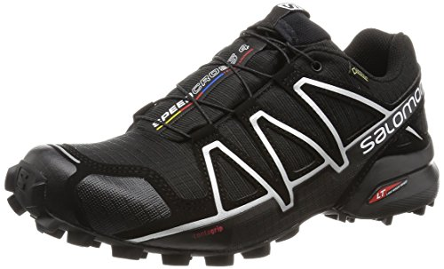 Salomon Speedcross 4 Gtx, Scarpe da Trail Running Uomo, Nero (Black/Black/Silver Metallic-X), 43 1/3 EU