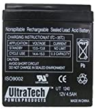 UltraTech UT-1240 12V, 4.5Ah Sealed Lead Acid Alarm Battery UT1240 ISO9002