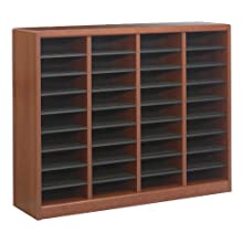 Safco Products E-Z Stor Wood Literature Organizer, 36 Compartments, Cherry, 9321CY