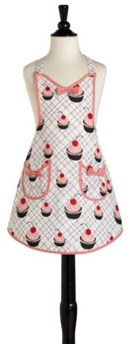 Jessie Steele 220-JS-36 Cherry Cupcakes Child's Audrey Apron