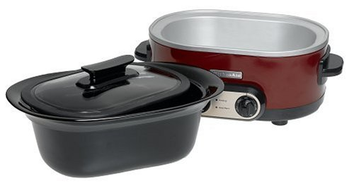 they kitchenaid slow cooker 7 quart glass