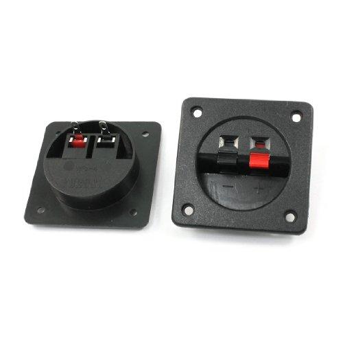 2Pcs Binding Spring Post Push Type Square Speaker Box Terminal Cup