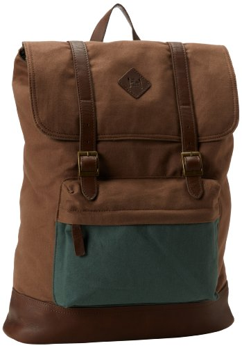 B00EUDMHBI Original Penguin Men's Canvas Rucksack, Dark Khaki, One Size
