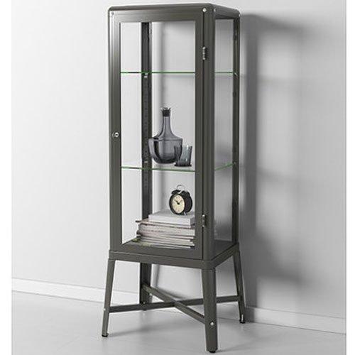 Utrusta Ikea Fjärrkontroll Fungerar Inte ~ Ikea Fabrikor Glass Door Cabinet , Dark Gray, Lockable , Industrial De