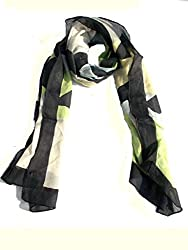 lotusa white and black casual scarf
