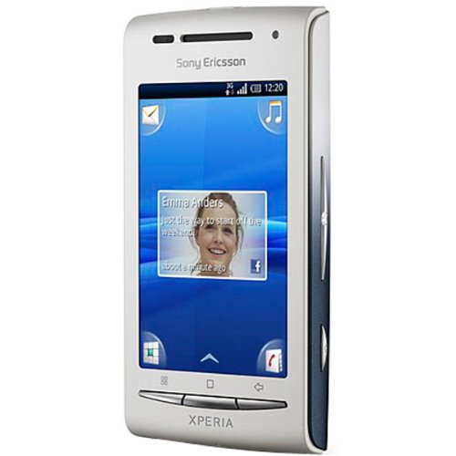Link to Sony Ericsson XPERIA X8 (E15i) Unlocked GSM Android Smartphone with 3MP Camera, Touchscreen, Wi-Fi, Bluetooth and GPS–International Version with No US Warranty (White/Dark Blue) Discount !!