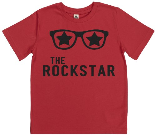 Phunky Buddha - The Rockstar Boys Kids Tshirt 11-12 Yrs - Red front-831284