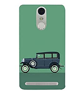 99Sublimation Vintage Car Graphics 3D Hard Polycarbonate Designer Back Case Cover for Lenovo K5 Note :: Lenovo Vibe K5 Note Pro - Blue