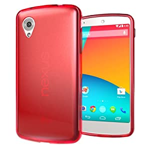 Hyperion LG Google Nexus 5 Matte Flexible TPU Case for LG Google Nexus 5 (Compatible with Domestic and International Google Nexus 5 D-820, D-821 & LG-D820 Models) **Hyperion Retail Packaging** [2 Year Warranty] (RED)