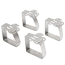 4pcs Stainless Steel Bee Tablecloth Clips Table Cover Holder For Party Picnic Wedding