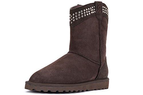 OZZEGFashon Shoes - Stivali da Neve da ragazza' donna , marrone (Coffee), 38,5 EU