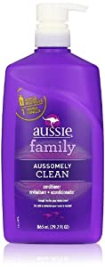 Aussie Aussomely Clean Hair Conditioner with Pump, 29.2 oz