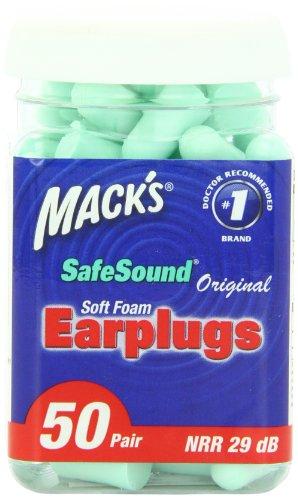 Ear Care Mack originales mousse souple Bouchons
