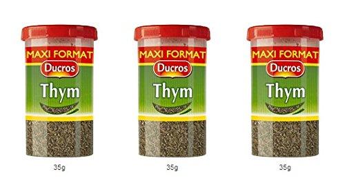 DUCROS - Poivres Herbes Epices - Herbes - Thym duc - 35 g - lot de 3